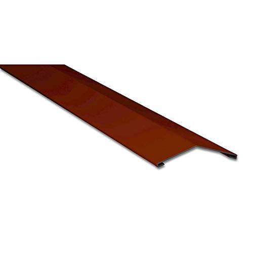 Firstblech flach | Kantteil | 145 x 145 mm | 150° | Material Stahl | Stärke 0,75 mm | Beschichtung 25 µm | Farbe Rotbraun