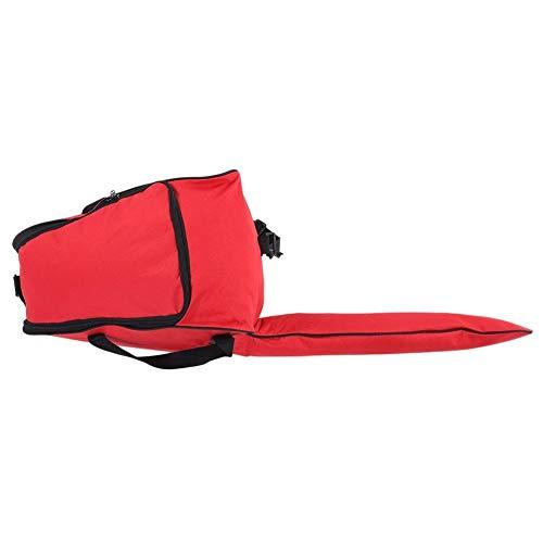KSTE Kettensäge Fall 1 PC von tragbarem Oxford Cloth Chainsaw Aufbewahrungstasche, Rasenmäher Carry Case Schutz Box (Grün, Orange und Rot)