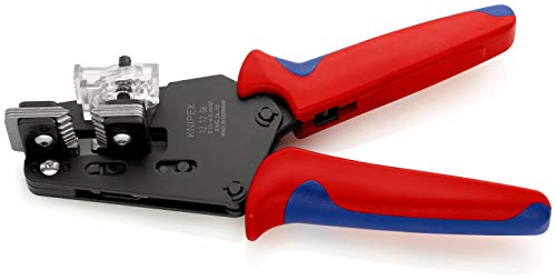 KNIPEX 12 12 06 Präzisions-Abisolierzange mit Formmessern brüniert mit Mehrkomponenten-Hüllen 195 mm