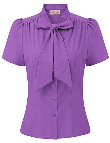 Sweet Damen t-Shirt Kurzarm Sommer Tops Vintage Retro elegant Bluse 2XL BP819-8