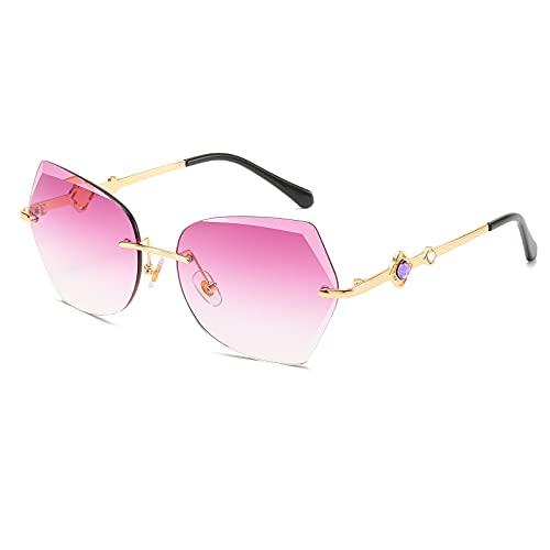 Gafas de sol sin montura para hombres y mujeres, gafas de sol polarizadas, correr, ciclismo y conducción al aire libre, Dorado/Morplr,