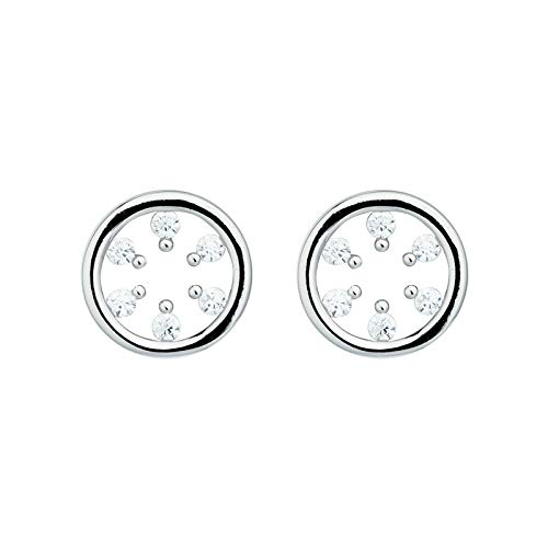Pure silver minimalist set-up mini hollow round ear bone nail ear nail earrings silver jewelry