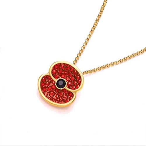 Mohnblumen-Brosche, 2 Stück, rote Blume, Anstecknadel, Geschenk, schwarzer Boden auf Weiß