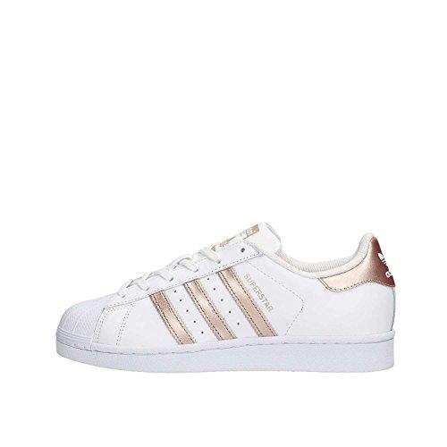 adidas Damen Superstar Sneaker, Weiß (Ftwwht/Supcol/Ftwwht), 38 EU