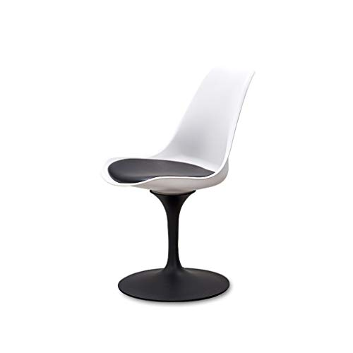 LGQ-JJU Drehstuhl, Tulip Chair Esszimmerstuhl Modern Minimalist Casual Fashion Cafe, Tisch Und Stuhl Kombination (Color : Black/White)