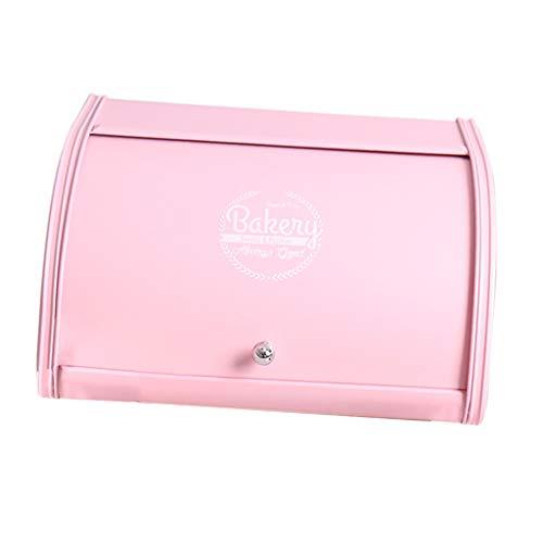 PETSOLA Rolldeckel Brotkasten Küche Top Lagerung Laib Retro Container Box Kanister - Rosa