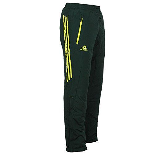 adidas Outdoor Damen Hose Universal Padded Pant warm wattiert (dunkelgrau-gelb, 34)