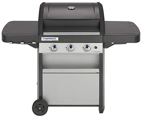 Campingaz 3 Series Classic Grill Barbecue a Gas a 3 bruciatore, 9.6 kW di Potenza, Sistema InstaClean EasyCleaning, griglia in Acciaio e Piastra, 2 tavoli a Lato, L