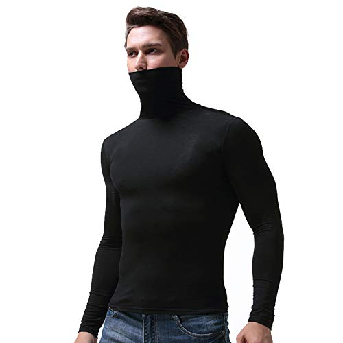 31r69B8px3L. SS500  - Men's Warm Long Sleeve Compression Shirts Turtleneck Winter Base Layer Top Pullover Lightweight Men Warm Long Sleeve…