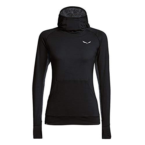 Salewa Damen Puez Dry W HDY Pullover & Sweatshirts, Black Out Melange, 46/40