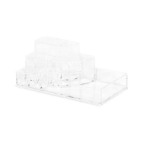 GELCO 3467937098086 Organiseur 3 Compartiments Polystyr/ène 18 x 9 x 5,9 cm Transparent