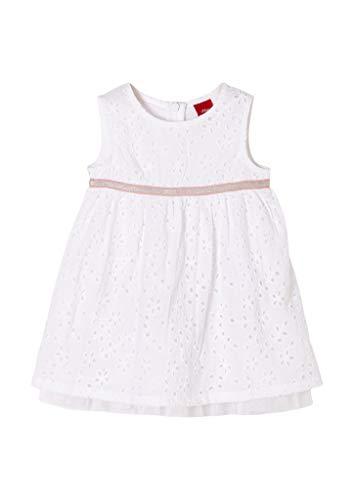 s.Oliver Junior Baby-Mädchen 405.10.102.20.200.2062585 Kleid für besondere Anlässe, White, 62