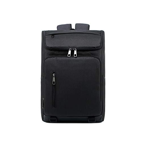 Borse per Notebook e Accessori Moda Grande capacità Casual Notebook Backpack Traspirante Tablet (Nero) Ctj (Colore : Black)