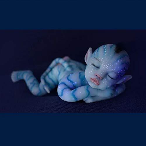 30/55cm Luminosa Muñeca de Silicona con Ojos Cerrados, Bebé Renacido Muñeca Realista Muñeca Bebé, Las Extremidades Son Suaves y Flexibles Realista Bebé Reborn, Regalo