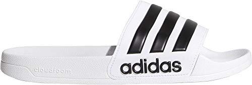 adidas Adilette Shower Stripes - Chanclas para Hombre, Blanco/Negro 70, 42