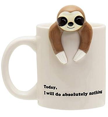 Decodyne Sloth Lazy Funny Coffee Mug, Funny Gifts for Women and Men 12 oz.