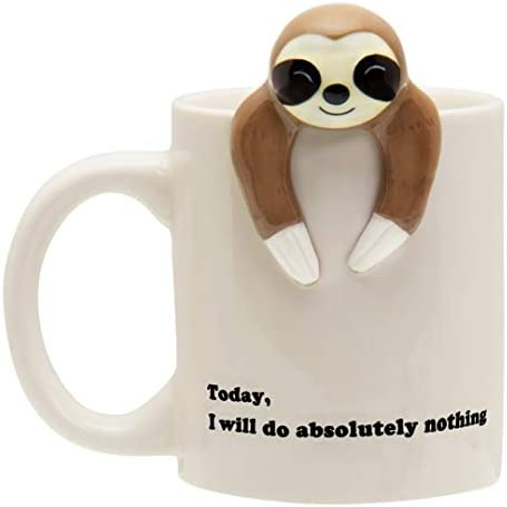 Funny Sloth Coffee Mug Funny Sloth Gifts For Women and Men Will Do Absolutely Nothing product image