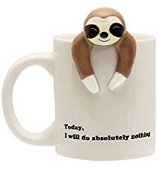 Funny Sloth Coffee Mug It Says Will Do Absolutely Nothing