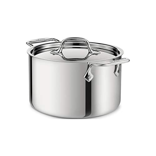 All-Clad 4303 Stainless Steel Casserole Pot With Lid, 2.8 Litres, 20.3 cm