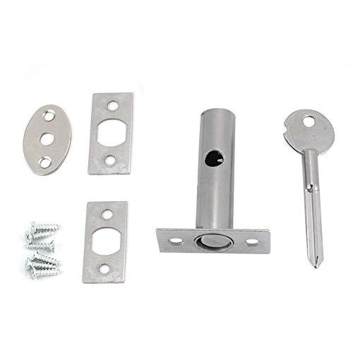 Kits de cerraduras Invisibles para Tubos de tubería de Hardware de Acero Inoxidable para el Pasillo de Escape de la Puerta a Prueba de Fuego, Que Incluye 1 * Cerradura de Pozo de Tubo
