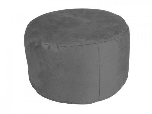 KCH Sitzkissen Sitzhocker Pouf Alka Anthrazit groß 34 x 47 x 47 mit Füllung