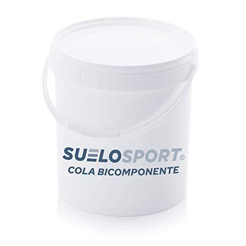 Cola bicomponente para suelo de caucho | Adhesivo para pavimento PVC y suelos de goma | Pegamento para césped | Adhesivo de poliuretano (5,1 kg, Verde)