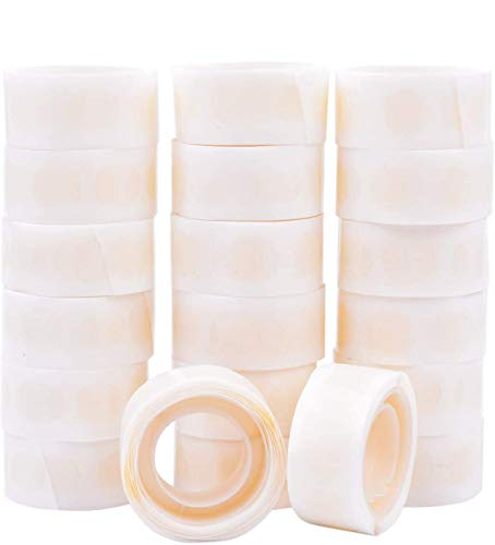 GCOA Globo Pegamento 3000 Piezas (30 Rollos) Puntos de Doble Cara de Pegamento Cinta Adhesiva de Punto Adhesiva extraíble Pegamento no líquido para Fiestas, Bodas, Globos Decoración