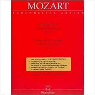 Mozart, W.A. - Concerto No. 5 in A Major, K. 219 - Violin and Piano - by Christoph Hellmut Mahling