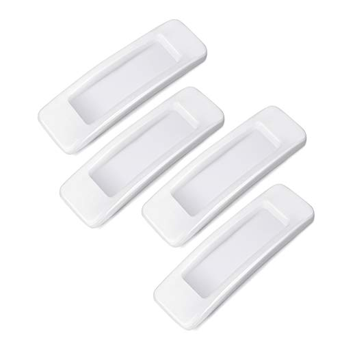 Daimay 4 Pieces Self-Stick Instant Cabinet Drawer Handle Helper Auxiliary Kitchen Cabinet Door Window Handle Sticker Convenient Opening Stick-on Handles