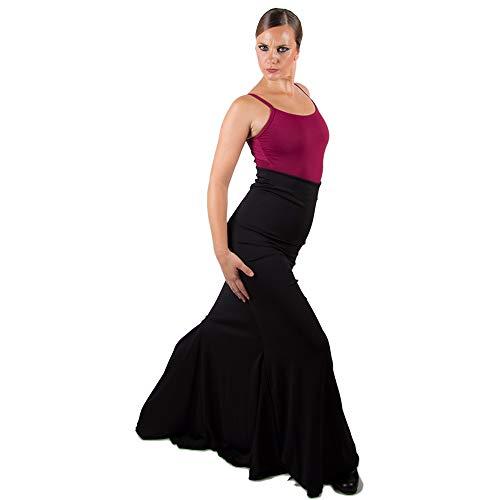 El Rocio Falda Flamenca Sacromonte Cintura Alta - S, Negro