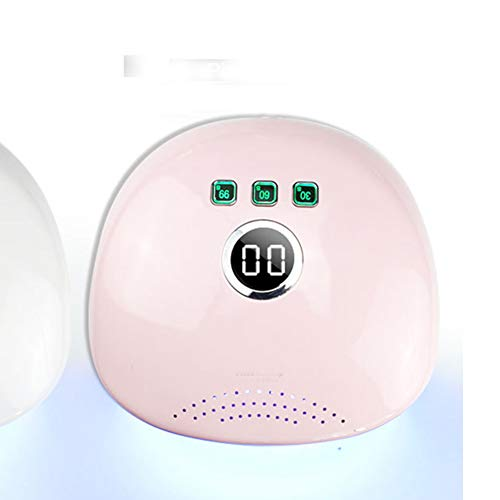 QWER Uñas secador del Clavo Inteligente de fototerapia máquina 48w Fuente de luz de Doble Modo rápido sin Dolor uñas lámpara,Rosado