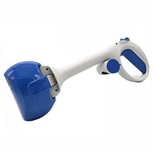 Chien Pooper Scooper, écope de Chien Portable 2 en 1, ramassage de Nettoyage pour Chiens et Chats - blue1-44x15.5cm