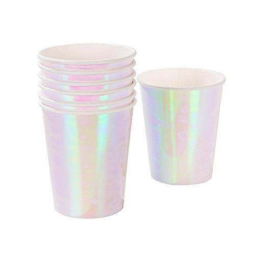Talking Tables Iridescent Party Supplies Unicorn Cups | Great for Birthday Party, Kids Party And Bridal Shower | Pastel, 12 Pack