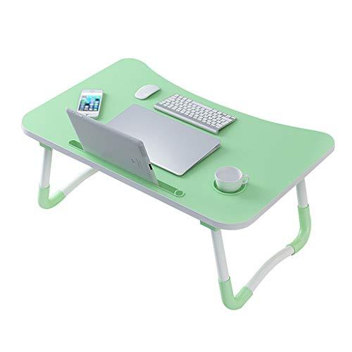 XJAXY Plegable Bandeja de la Cama Lap Desk, Escritorio portatil portatil con Ranura para Tarjeta de telefono y la Copa Ranuras Ver peliculas en la Cama o como Mesa de Comedor Personal