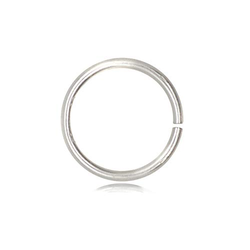 The Jewellery Store London TJS 10 Pcs Open Jump Rings in Nickel Free 925 Sterling Silver, 6mm (Other Sizes Avalaible: 6mm, 8mm, 10mm, 12mm, 14mm, 16mm)