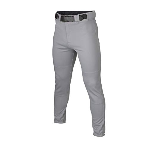 EASTON RIVAL+ Pro Taper Baseball Pant, Grey, Adult, XXLarge