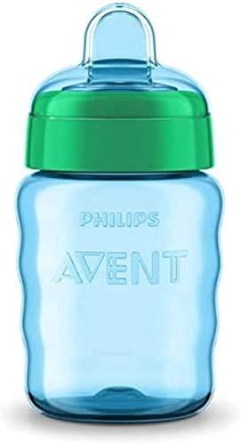 Philips Avent SCF553 05 - Vaso con boquilla de silicona para niño, válvula antigoteo, sin BPA, para 9 meses, 260 ml, color verde