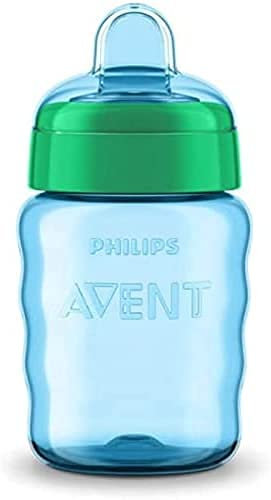Philips Avent SCF553/05 - Vaso con boquilla de silicona para niño, válvula antigoteo, sin BPA, para 9...