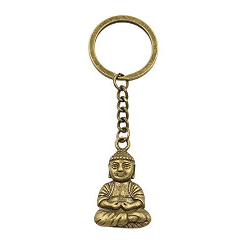 Para parejas llavero Llavero de los hombres Tathagata Medita Buda colgante llavero llavero cadena de metal color hombres coche regalo recuerdo de souvenirs llavero accesorios para hombres tous llavero