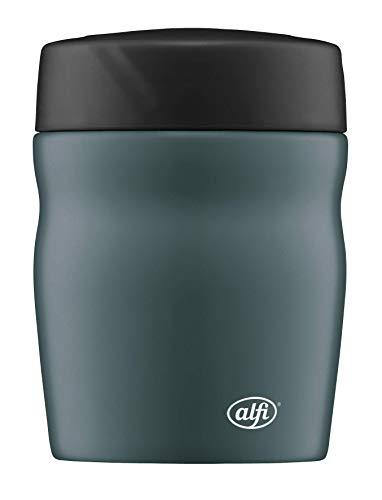 alfi foodMug - Thermobehälter für Essen, Edelstahl 350ml türkis blau, kleines Speisegefäß für Essen, Suppen oder Müsli to Go, auslaufsicher, BPA-Frei, 6 Stunden heiß, 12 Stunden kalt - 0637.234.035