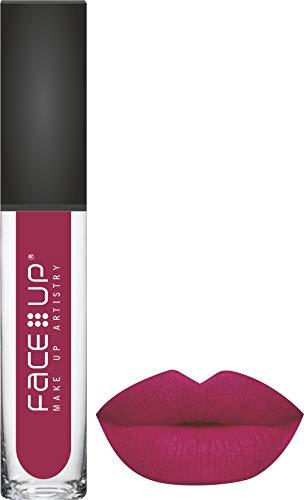 FACE UP LONG WEAR MATTE LIQUID LIPSTICK, pink , 6ml, (SHADE – 017), Magenta Pink