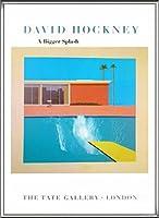 ポスター デビット ホックニー A Bigger Splash 1967 額装品 アルミ製ハイグレードフレーム(シルバー)