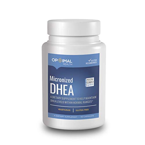 Optimal DHEA (Dehydroepiandrosterone) 25mg | Micronized for Increased Absorption | Natural Hormone Balance, Healthy Aging Support Supplement for Men & Women | Energy, Metabolism, Muscle Mass, Libido