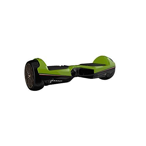 Twodots Hoverboard Glyboard Veloce Lamborghini Corse, Ruote 6.5  , Verde