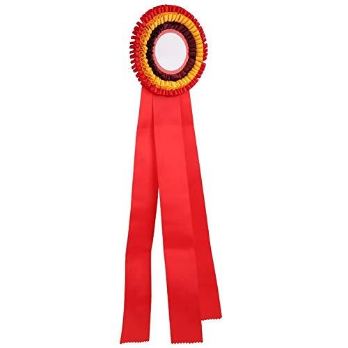 DAUERHAFT Trofeo Insignia de Medalla de Cinta confiable Exquisita, para Competencia de fútbol, para Competencia de Carrera(Red)