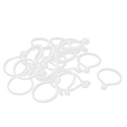 New Lon0167 White Plastic Featured Window Curtain Drapery Reliable Efficacy Shower Sliding Eyelet Hooks Rings 20Pcs(id:364 99 4e 06d)