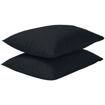 noir // 2 pi/èces IKEA DVALA Taie doreiller 50x80 cm