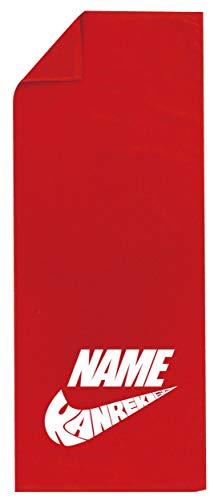 /GLN/還暦祝い 名入れ タオル スポーティロゴ風【KANREKI60エアー】【赤シャーリングタオル】【フリー】 PRIME
