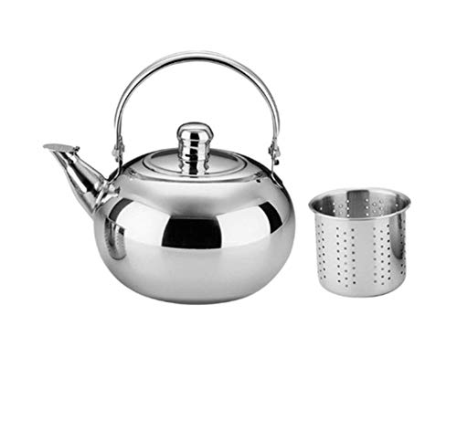 Stainless Steel Filter Teapot Cold Water Bottle No Magnetic Sound Teapot Camping Kettles Warm Wine Kettle Tea Set Kitchen Tools