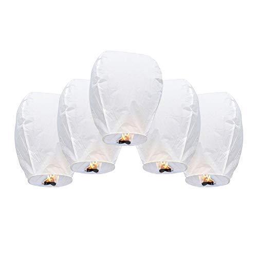Lámpara Deseando Chino,Mini Sky Lantern Globo de Aire Caliente,Farolillos Voladores Linternas Voladoras para Deseos Fiestas Celebraciones Decoraciones